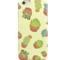 Sweet Succulents  (Yellow bg) iPhone Case/Skin