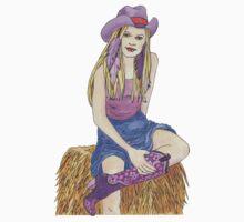 Purple Sage Cowgirl Kids Tee