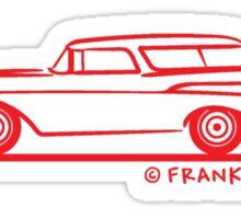 1957 Chevy Nomad Bel Air Sticker