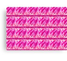 Vibrant Pink Fun Feather Design Canvas Print
