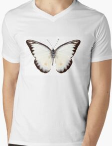 White butterfly species Appias lyncida Mens V-Neck T-Shirt