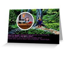 Lucas Arts call center (Monkey Island 2) Greeting Card