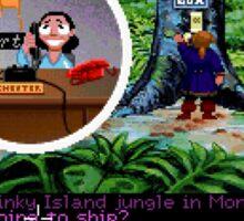Lucas Arts call center (Monkey Island 2) Sticker