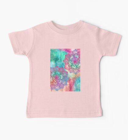 Round and Round the Rainbow Baby Tee