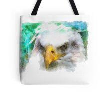 Abstract Bald Eagle Tote Bag