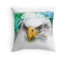 Abstract Bald Eagle Throw Pillow