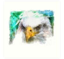 Abstract Bald Eagle Art Print