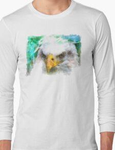 Abstract Bald Eagle Long Sleeve T-Shirt