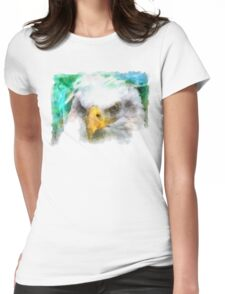 Abstract Bald Eagle Womens Fitted T-Shirt