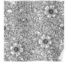 Decorative hand drawn floral ornament Poster