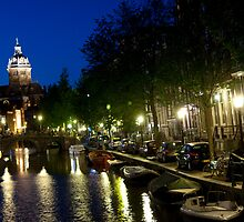 St Nicholas Kerk By Night by phil decocco
