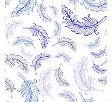 Cute feather print Photographic Print