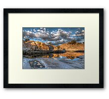 Reflecting Cove Framed Print
