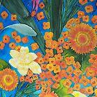 Flowers in Blue II by MIchelle Thompson
