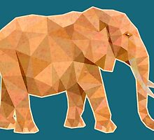 Elephant lowpoly by tsign703