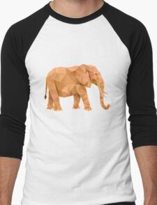 Elephant lowpoly Men's Baseball ¾ T-Shirt