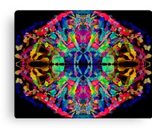 Abstract Psychedelic Rainbow Gem on Black Canvas Print