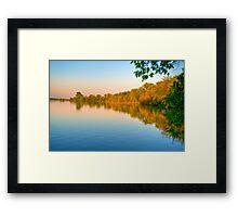 Sunset on Patrick Lake Framed Print