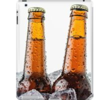 Beers on ice cubes whit water drops iPad Case/Skin