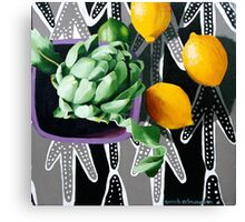 Actichoke, Lemons and Lime Canvas Print