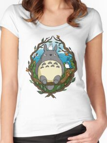 Up in the trees Women's Fitted Scoop T-Shirt