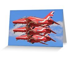The Red Arrows Take of at RIAT 2015 Greeting Card
