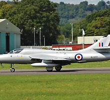 Hawker Hunter XL577 fighter by David Fowler