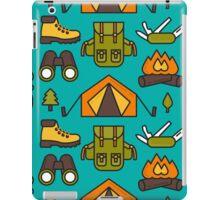 Camping Pattern iPad Case/Skin
