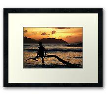 Ladigue first sunset Framed Print