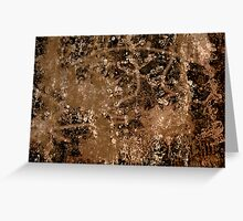 Coffee and Musing with Jackson Pollock Greeting Card