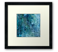 Abstract blue scales Framed Print