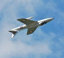 Hawker Hunter jet inverted by David Fowler