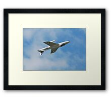 Hawker Hunter jet inverted Framed Print