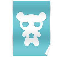 Lazy Bear Baby Blue Poster
