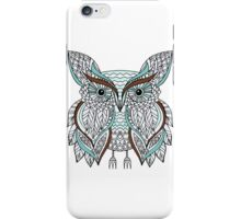 Hand drawn doodle owl iPhone Case/Skin