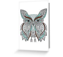 Hand drawn doodle owl Greeting Card