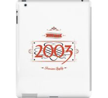 Since 2003 (Red&Black) iPad Case/Skin