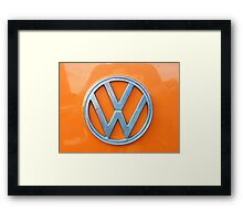 VW Kamper Badge. Framed Print