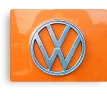 VW Kamper Badge. Canvas Print