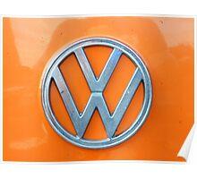 VW Kamper Badge. Poster