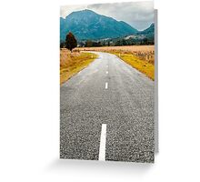 Road out in the country Greeting Card