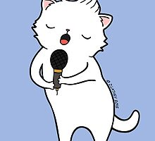 karaoke Cat by zoel