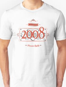 Since 2008 (Red&Black) T-Shirt