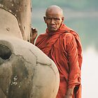 Monk at Angkor Wat by Andre Rickerby