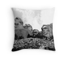 Mount Rushmore Heads Throw Pillow