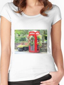 Telephone Box - Spofforth - North Yorkshire Women's Fitted Scoop T-Shirt