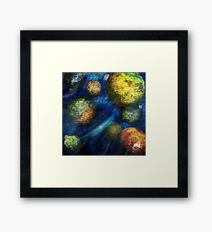 Heart World Framed Print