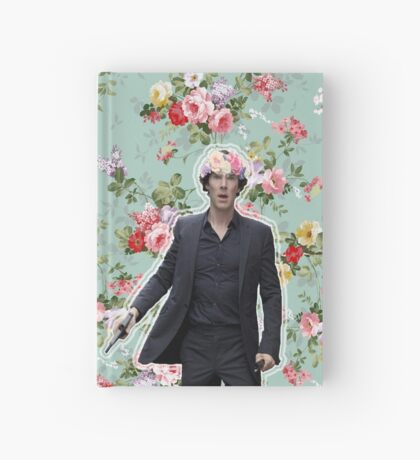 Flowercrowned Sherlock Hardcover Journal