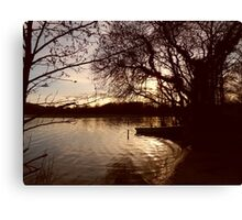 Trout Lake at Sunset Canvas Print
