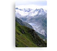 A Glacier Is Fading Away Canvas Print